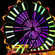 Multi Colored Ferris Wheel Poster