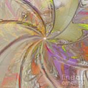 Multi Colored Pinwheel Poster