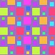 Multicoloured Squares Poster