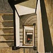 Museum Stairs Poster