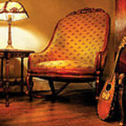 Music - String - The Chair And The Lute Poster