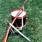 Musket Sword And Drum Poster