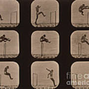 Muybridge Locomotion Of Man Jumping Poster by Photo Researchers