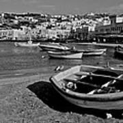 Mykonos Boats Poster