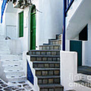 Mykonos Stairs Poster by Rebecca Margraf