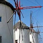 Mykonos Windmills Poster