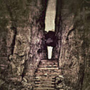 Mysterious Stairway Into A Canyon Poster