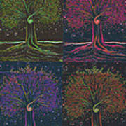 Mystic Spiral Tree X 4 By Jrr Poster