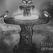 Mystical Garden Waterfountain Poster