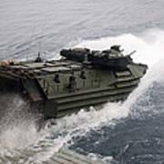N Amphibious Assault Vehicle Departs Poster