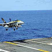 N Fa-18c Hornet Lands Aboard Poster