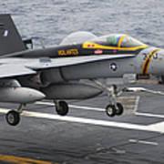 N Fa-18f Super Hornet Lands Aboard Poster