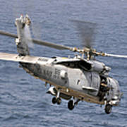 N Hh-60h Sea Hawk Helicopter In Flight Poster