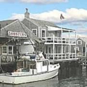 Nantucket Lobstering Poster