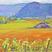 Napa Valley Mountains Poster by Barbara Anna Knauf