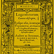 Napiers Treatise On Logarithms Poster by Photo Researchers