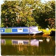 Narrowboat In Blue Poster