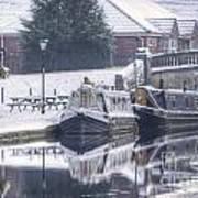 Narrowboats At The Boat Inn Poster