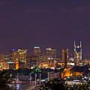 Nashville Cityscape 9 Poster