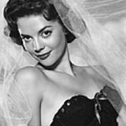 Natalie Wood, Warner Brothers, 1950s Poster by Everett