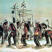 Native American Indian Snow-shoe Dance Poster