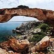 Natural Bridge - Cape Gkreko - Cyprus Poster