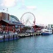 Navy Pier Chicago Summer Time Poster