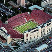 Nebraska Aerial View Of Memorial Stadium  Poster