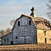Nebraska Barn In Otoe County Poster