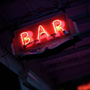 Neon Bar Sign Poster
