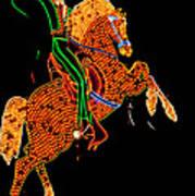 Neon Cowboy Las Vegas Poster by Garry Gay