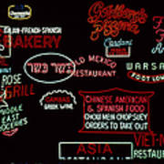 Neon Signs, 1937-1971 Poster by Granger