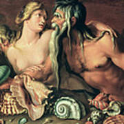 Neptune And Amphitrite Poster by Jacob II de Gheyn