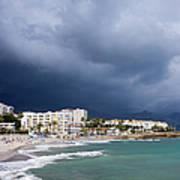 Nerja Beach On Costa Del Sol In Spain Poster