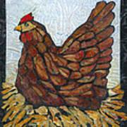 Nesting Hen Poster