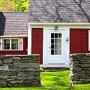 New England Farmhouse Poster