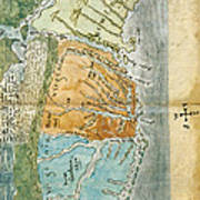 New England To Virginia, 1651 Poster by Photo Researchers