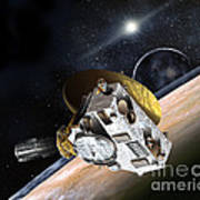 New Horizons Spacecraft At Pluto Poster