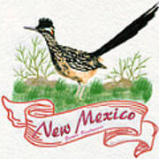 New Mexico State Bird The Greater Roadrunner Poster