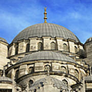 New Mosque Domes In Istanbul Poster