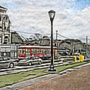 New Orleans Street Trolley Poster