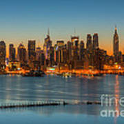 New York City Skyline Morning Twilight IIi Poster