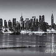 New York City Skyline Morning Twilight Iv Poster