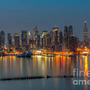 New York City Skyline Morning Twilight Xi Poster