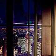 New York City Through A Window Poster
