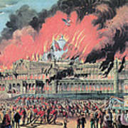New York Crystal Palace Fire, 1858 Poster by Photo Researchers