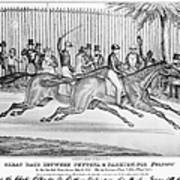 New York: Horse Race, 1845 Poster