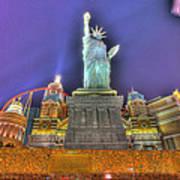 New York In Las Vegas Poster by Nicholas  Grunas