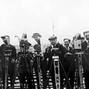 Newsreel Cameramen With Cameras Poster