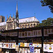 Newstand Next To Notre Dame Poster